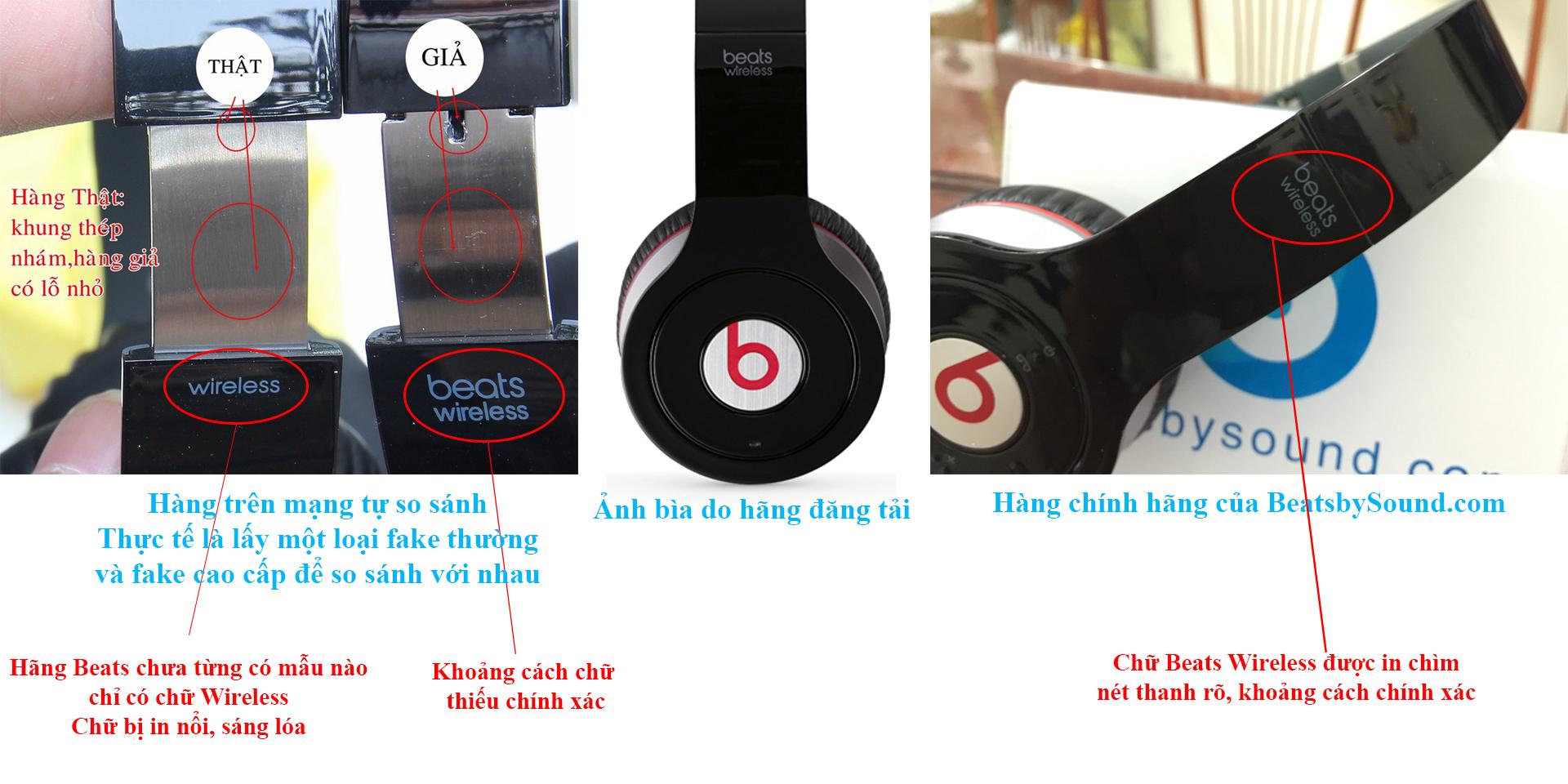 phân biệt tai nghe beats chính hãng